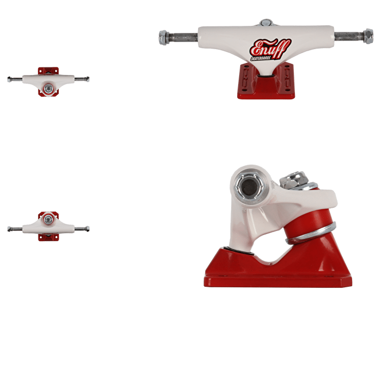 Enuff Decade Pro Skateboard Trucks - White/Red