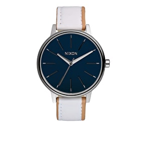Nixon Women's Kensington Leather Watch - Navy/White