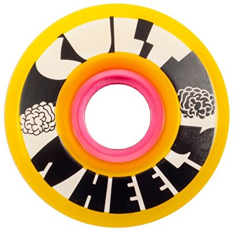 Cult Ist 63mm 80A Longboard Wheels - Yellow (Pack of 4)