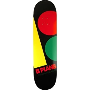 Plan B Team Massive Skateboard Deck - Rasta 8.375
