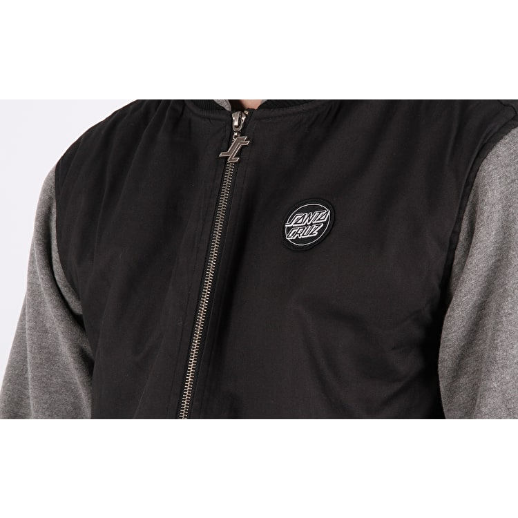 Santa Cruz Lawless Quilted Jacket - Black/Charcoal Heather