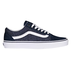 Vans Old Skool Skate Shoes - (Suede & Suiting) Dress Blues