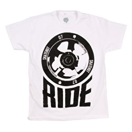 SkateHut Scooter Ride Kids T-Shirt - White