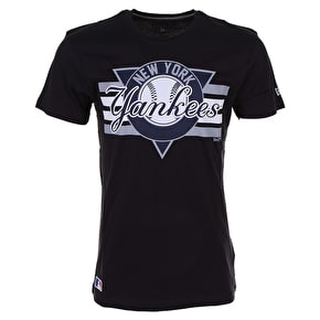 New Era MLB NY Yankees Stripes T-Shirt - Navy