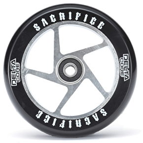 Sacrifice Delta Core 110mm Scooter Wheel w/Bearings - Black/Polished