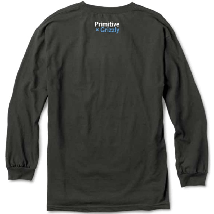 Primitive x Grizzly Mascot Longsleeve T-Shirt - Grey