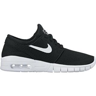 Nike SB Stefan Janoski Max (GS) Kids Skate Shoes - Black/White