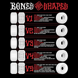 Bones Blanks V2 Skateboard Wheels - White (Pack of 4)