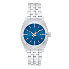Nixon Medium Time Teller Womens Watch - Navy/Rose Gold