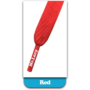 Mr Lacy Junior Flatties Shoelaces Red