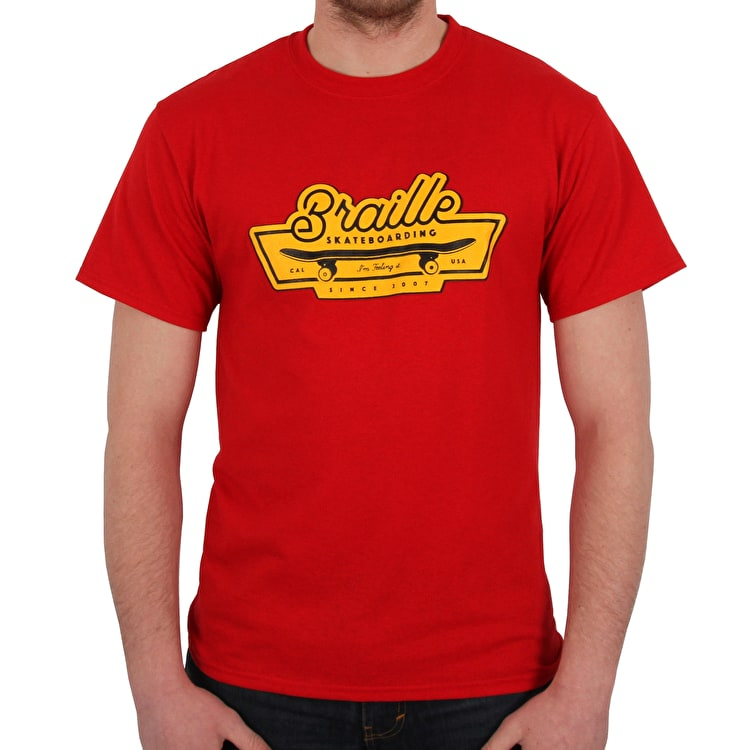 Braille New Braille Red T shirt - Red