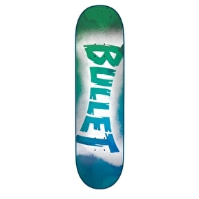 Bullet Sprayed Skateboard Deck - Blue 7.6