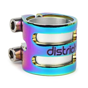 District S-Series DLC15 Double Scooter Collar Clamp - Neochrome