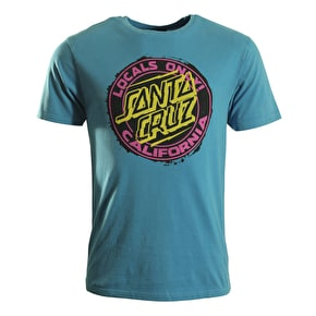 Santa Cruz T-Shirt - Locals Only Vintage Blue