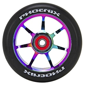 Phoenix 7 Spoke F7 Alloy Core 110mm Scooter Wheel - Neochrome