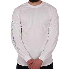 National Skateboard Co Team Long Sleeve T shirt - White