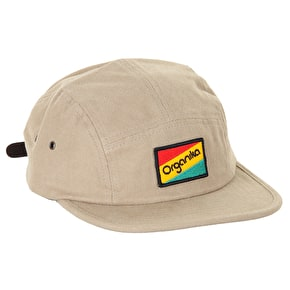 Organika Flag 5 Panel Cap - Khaki