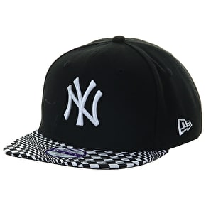 New Era Kids 9Fifty Snapback Cap - NY Optic Vize - Black/White