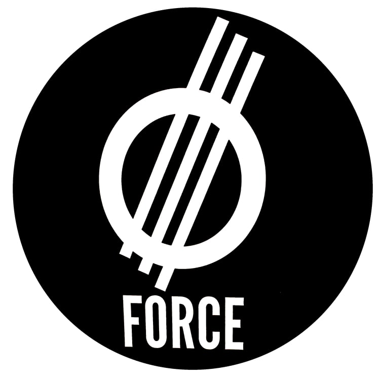 Force Wheels Skateboard Sticker - Black