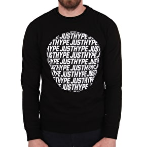Hype Justhype Text Circle Crewneck - Black