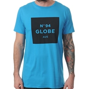 Globe Number 94 T-Shirt - Bright Blue