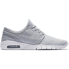 Nike SB Stefan Janoski Max Skate Shoes - Wolf Grey/University Red