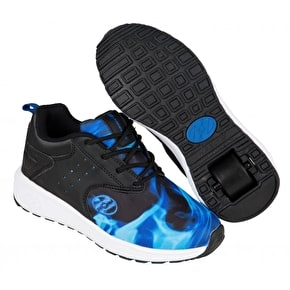 B-Stock Heelys Velocity - Black/Blue/Flame UK 6 (Cosmetic Damage)