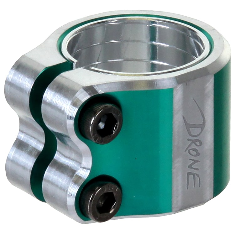 Drone Contrast Double Collar Clamp - Teal