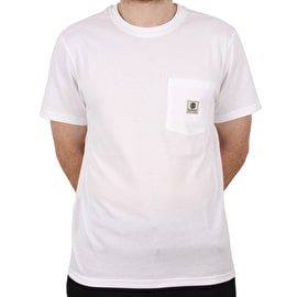 Element Basic Pocket Label  T Shirt - Optic White