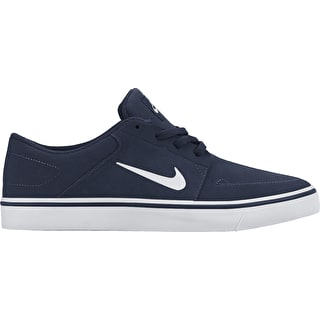 Nike SB Portmore Skate Shoes - Midnight Navy/White