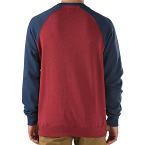 Vans Rutland Crewneck - Red Dahlia Heather/Dress Blue