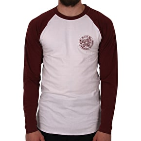 Santa Cruz Voltage Baseball Cut & Sew T-Shirt - Blood/White