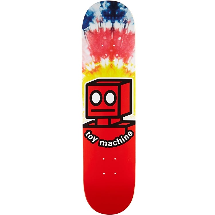 Toy Machine Robot Skateboard Deck - Tie Dye 7.875""