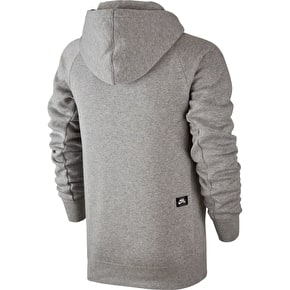 Nike SB Icon Hoodie - Dark Grey Heather/Prism Pink