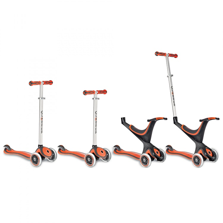 Globber Evo 5-in-1 Complete Scooter - New Red
