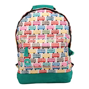 Mi-Pac Mini Buses Backpack - Cream Multi