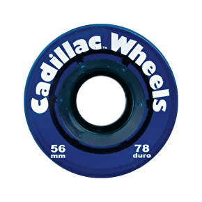 Cadillac Classic 56mm 78a Longboard Wheels - Blue (Pack of 4)