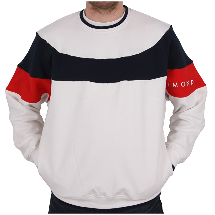 Diamond Supply Co Fordham Crew Neck - White