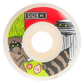 Force Giger Raccoon Skateboard Wheels - 52mm