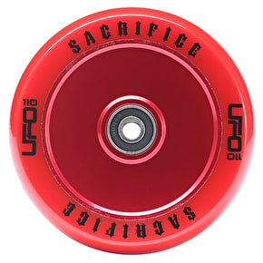 Sacrifice UFO 110mm Scooter Wheel w/Bearings - Red/Red