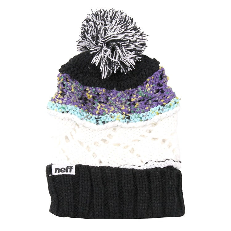 Neff Space Womens Beanie - Black/Purple
