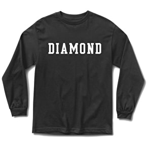 Diamond Block Long Sleeve T-Shirt - Black