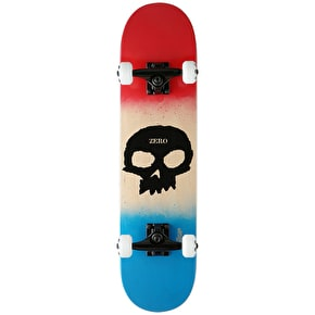 Zero Team Single Skull Youth Complete Skateboard - Red/Bone/Blue 7.25