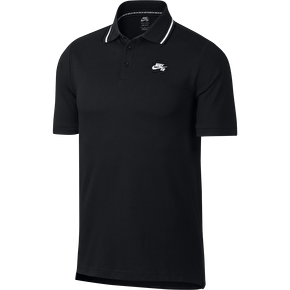 Nike SB Dri Fit Pique Polo Shirt - Black/White