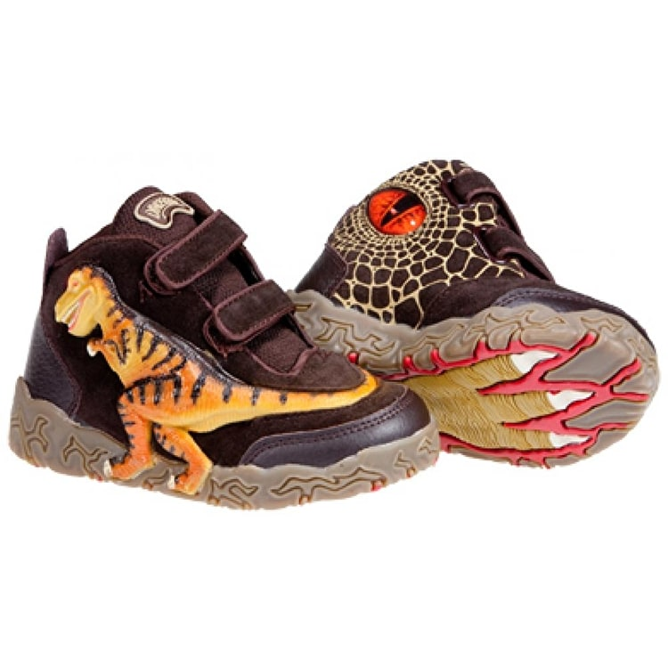 Dinosoles 3D X10 T-rex Hi Top Shoes - Mocha