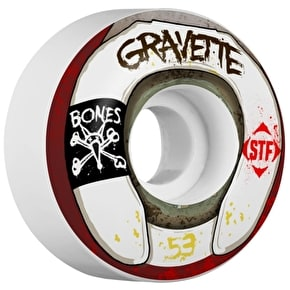 Bones STF Gravette Wasted Life V2 Skateboard Wheels - 53mm