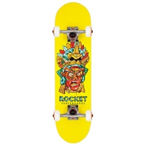Rocket Mask Series Complete Skateboard - Aztec 7.38