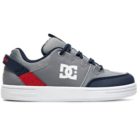 DC Syntax Boys Skate Shoes - Grey/Red/White
