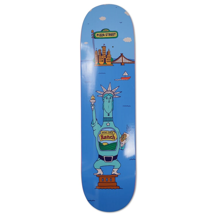 Pizza Too Much Sauce Skateboard Deck 8.25""