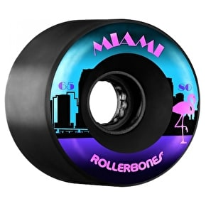 Rollerbones Miami Quad Skate Wheels - Black 65mm 80A